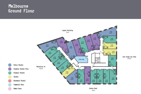 Melbourne Apartments - Ground Floor Floorplan