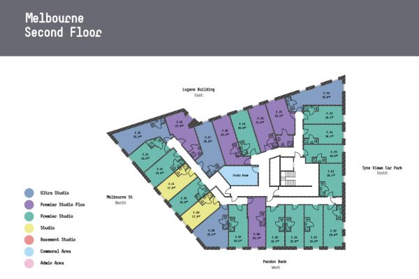 Melbourne Apartments - Third Floor Floorplan
