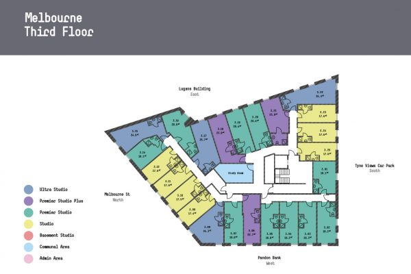 Melbourne Apartments - Second Floor Floorplan